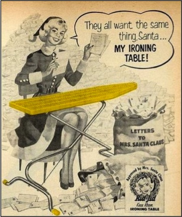Xmas old school ironing board ad